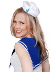 Sailor-Set - Blue Collar and Mini Hat